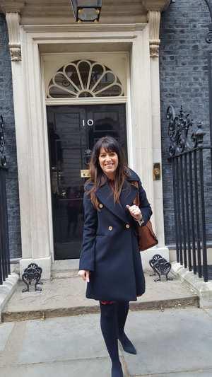 Fiona Brookman at 10 Downing Street