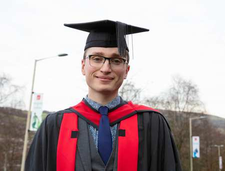 Charlie Andrews from Rugby in Warwickshire graduated with a MA by Research degree in December 2019