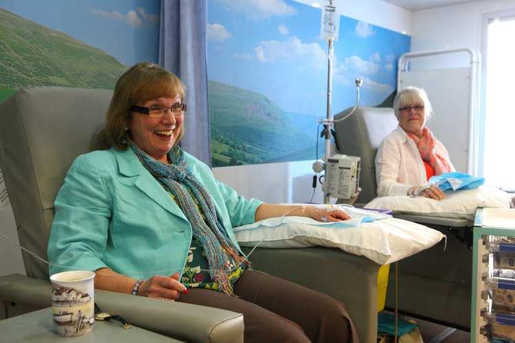 Tenovus mobile unit - patients having treatment (GIS Research)
