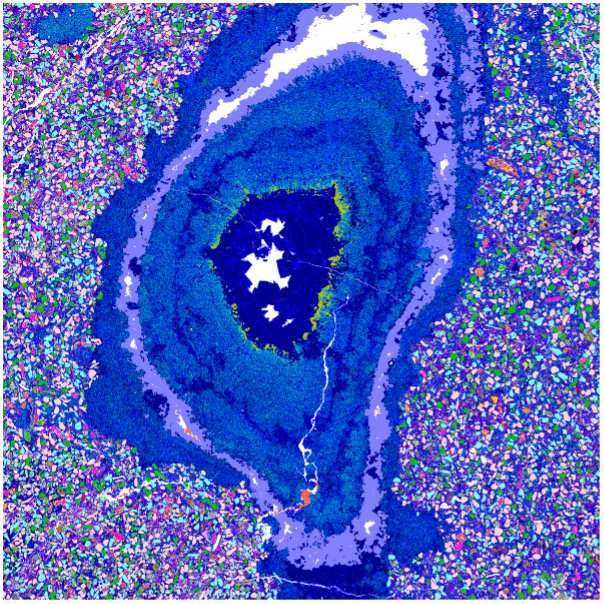 Geosciences - Automated mineralogy image of a Cretaceous methane seep, Antarctica.jpg