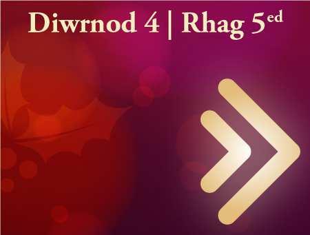 Diwrnod 4