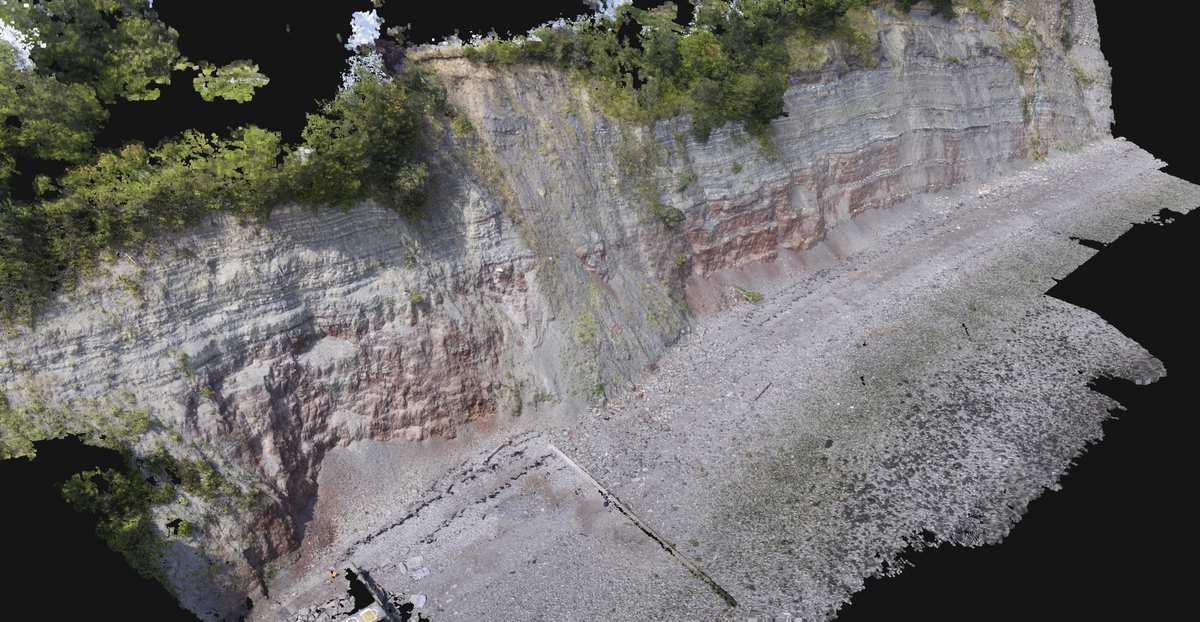 3D model of Penarth cliff face