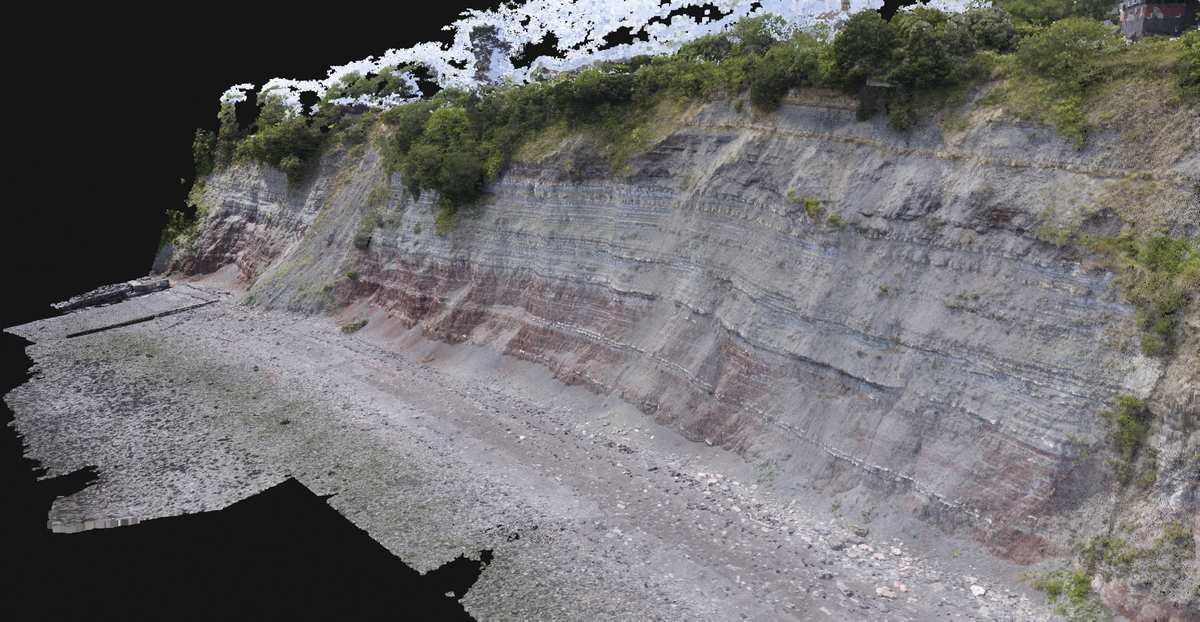 3D Generated Model of Penarth Cliff face