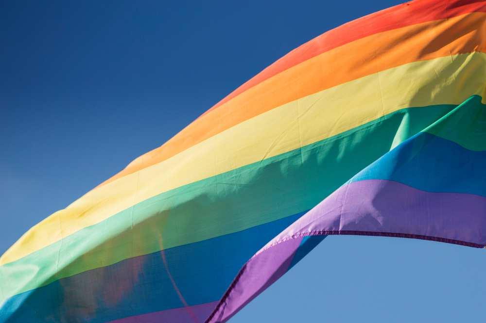 LGBT Flag on campus