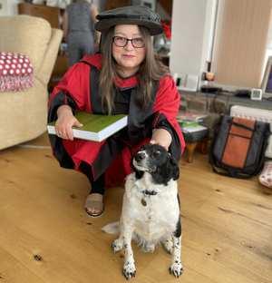 Dr Nia-Thomas, PhD graduation, July 2021