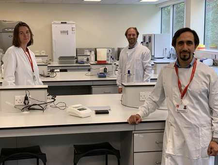 Dr Emma Hayhurst, Dr Jeroen Nieuwland and Dr Ali Roula Covid Test