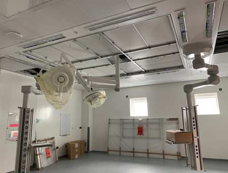 UCV operating theater during construction