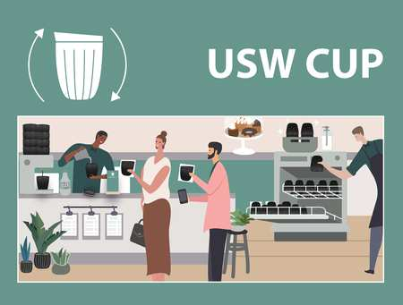 USW Cup Button