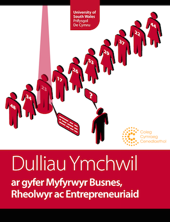 Dulliau Ymchwil (Welsh language version of Research Methods) cover