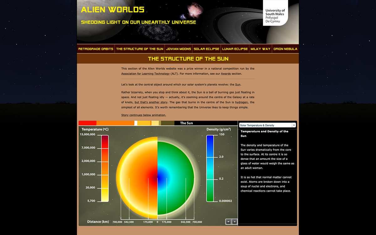 Alien Worlds website screenshot