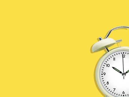 alarm clock, yellow square