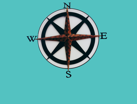 green box with compass
