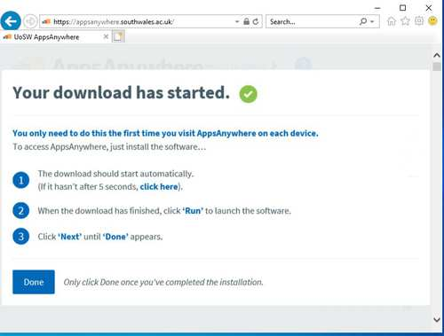 Install AppsAnywhere