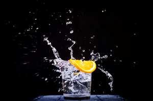 drink with slice of orange