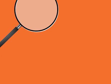 orange box, magnifying glass