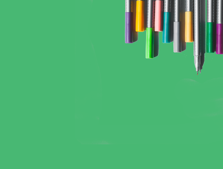 Green box with pens