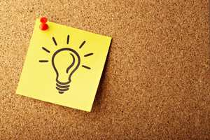 post it note with bulb picture