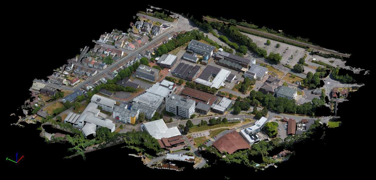 3D Generated Model by Drone of USW Treforest Campus