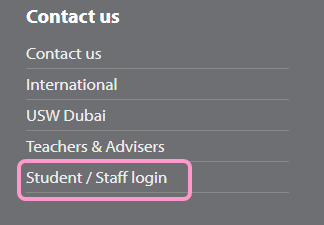 link from the USW main website to Unilife