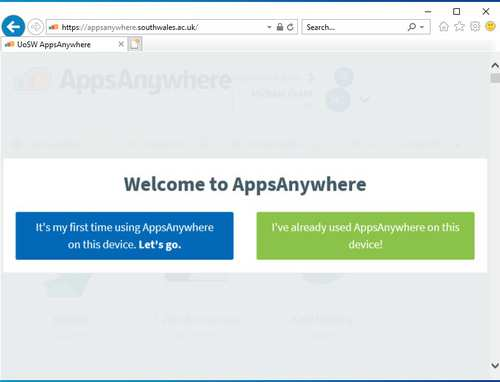 welcome to AppsAnywhere